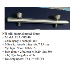 Noi rail 140mm8MM